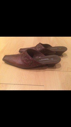 Yessica Heel Pantolettes brown