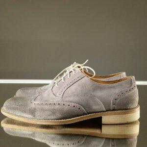 Scarpa business grigio chiaro-marrone chiaro