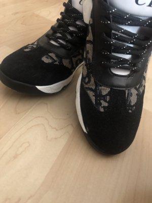 Heel Sneakers silver-colored-black