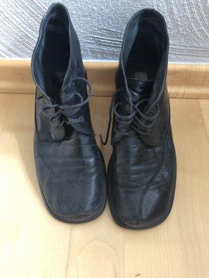 Lace Shoes black-cognac-coloured