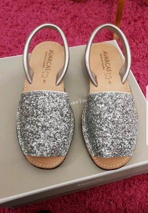 Schuhe Glitzer  neu 41 Silber Absatz