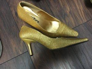 Schuhe Gold