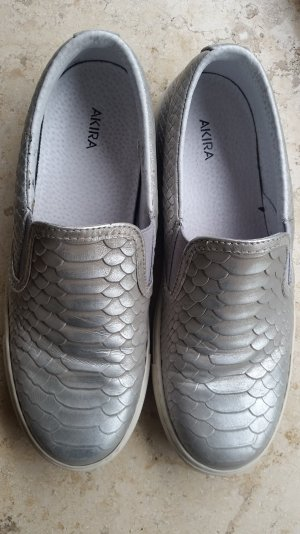 Schuhe Gr.38 silber antikfinish