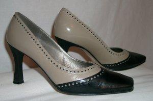 Schuhe, Gr. 38, taupe/schwatz