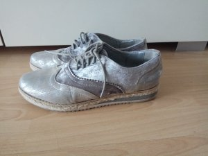 Wingtip Shoes silver-colored-grey