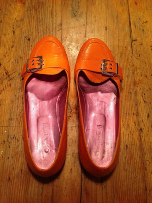 Schuhe Gr.41 orange edel made in Italy