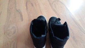 Chaussures à lacets blanc-noir