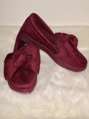 Pantoffels bordeaux