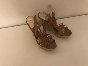 Schuhe Guess Braunes Leder 39