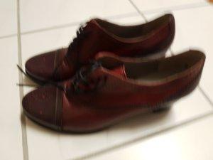 Maripé Lace Shoes bordeaux leather