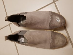 ara Slip-on Shoes light grey-silver-colored leather