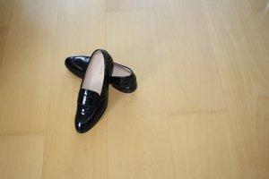 Schuhe, Halbschuhe, Loafer, von Lloyd, Schwarz, Lackleder