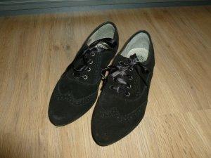 Schuhe Halbschuhe Schnürschuhe schwarz