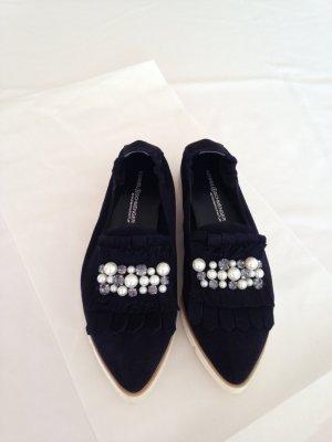 Schuhe, Halbschuhe, Slipper, neu, von Kennel und Schmenger, Dunkel-Blau,Gr.40