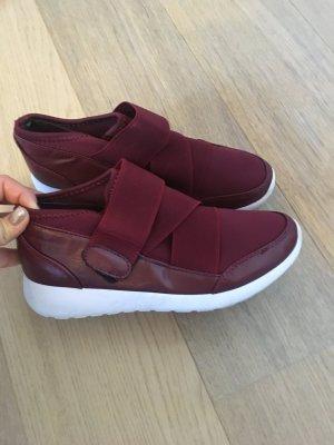 Schuhe Halbschuhe weinrot bequem Gr. 38