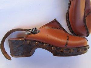Vintage Sandalias con tacón marrón