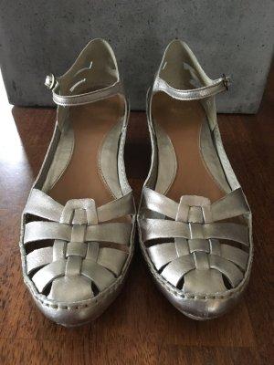 Schuhe in Metallicleder, CLARKS, Gr. 40