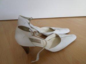 Schuhe in weiß, Größe 39, Obermaterial und Innenausstattung LEDER von Janet D