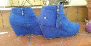 Schuhe Keilabsatz blau