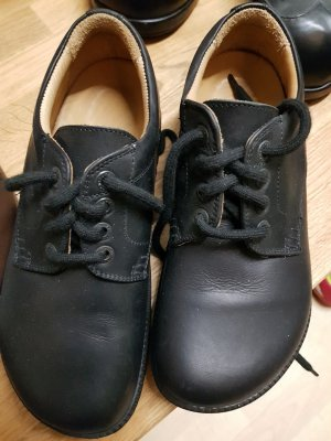 Birkenstock Lace Shoes black leather