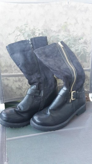 Schuhe - Lederschuhe - schwarz - Gr. 40