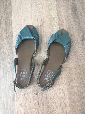 Lili Mill Sandales à lanière bleu cadet cuir