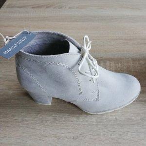 Marco Tozzi Bottines à lacets gris clair daim