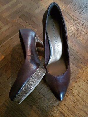 Tamaris High Heel Boots grey brown