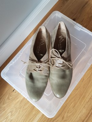 Lace-up Pumps silver-colored-light grey