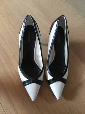 Schuhe mit Absatz High Heels weiß schwarz Gr. 37