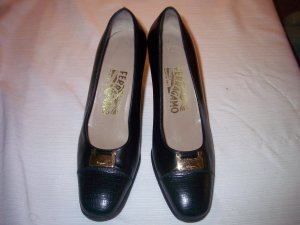 0039 Italy Shoes black leather