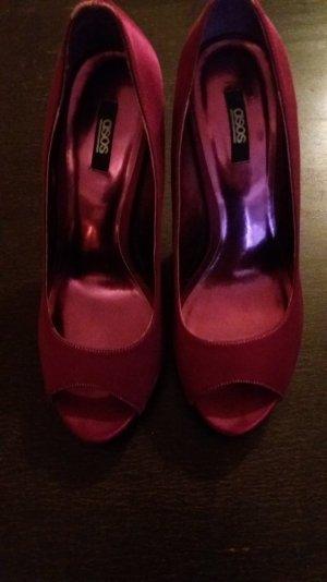 Schuhe mit Glitzerabsatz