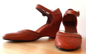 Schuhe mit Keilabsatz / Wedge / Cognac von NINE WEST