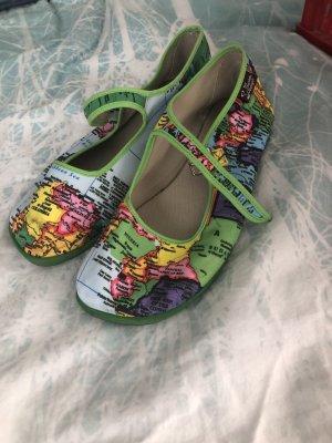 Schuhe mit Landkarten Print,Gr 40