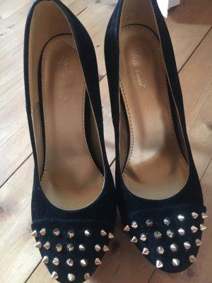 Schuhe mit Nieten Gr 39 schwarz