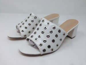 Sandalias de tacón con plataforma blanco