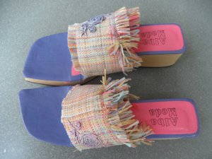 Schuhe Pantolette Alba Moda Gr. 38 Pastell
