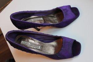 Schuhe Peeptoes Pumps von BUFFALO lila wie NEU