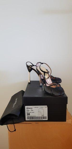 Armani High Heels black-gold-colored