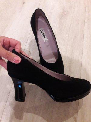 Schuhe Pumps Gabor schwarz Echtleder