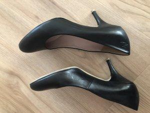 Schuhe Pumps Schwarz Leder sehr guter Zustand