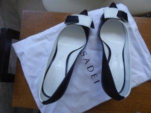 Casadei Tacones altos negro-blanco Cuero