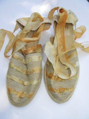 Vintage Espadrille Sandals gold-colored