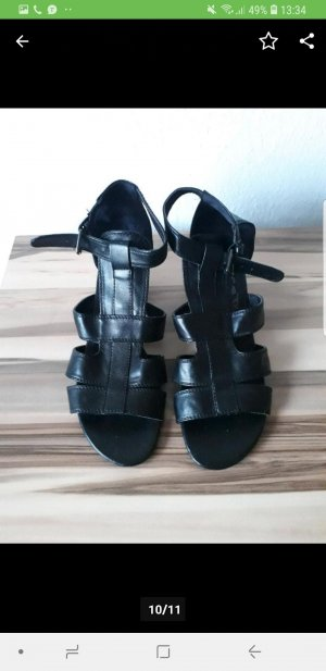 & other stories Strapped High-Heeled Sandals black
