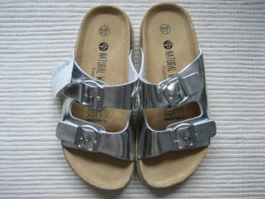 schuhe sandalen neu silber gr. 38