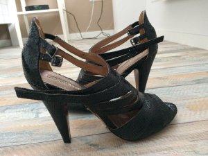 Buffalo High Heel Sandal black leather