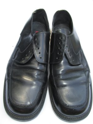 Schuhe Schwarz Lloyd Vintage Retro Gr. 7 1/2; Gr. 41,5; 42