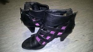 Schuhe schwarz mit Absatz offen
