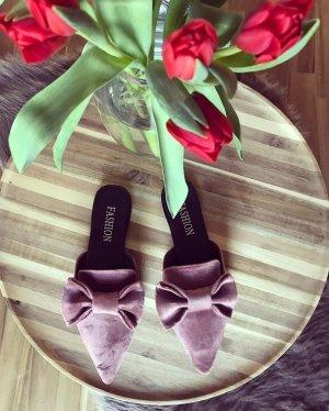 Schuhe Slider Mules Sandalen Schlappen Latschen Schleife
