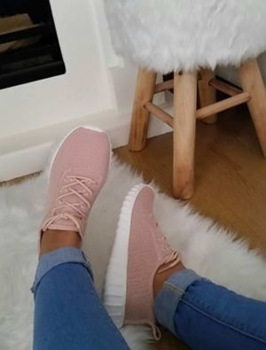 Schuhe Sneaker 38 blogger vintage hipster boho nmd nude rosa weiß